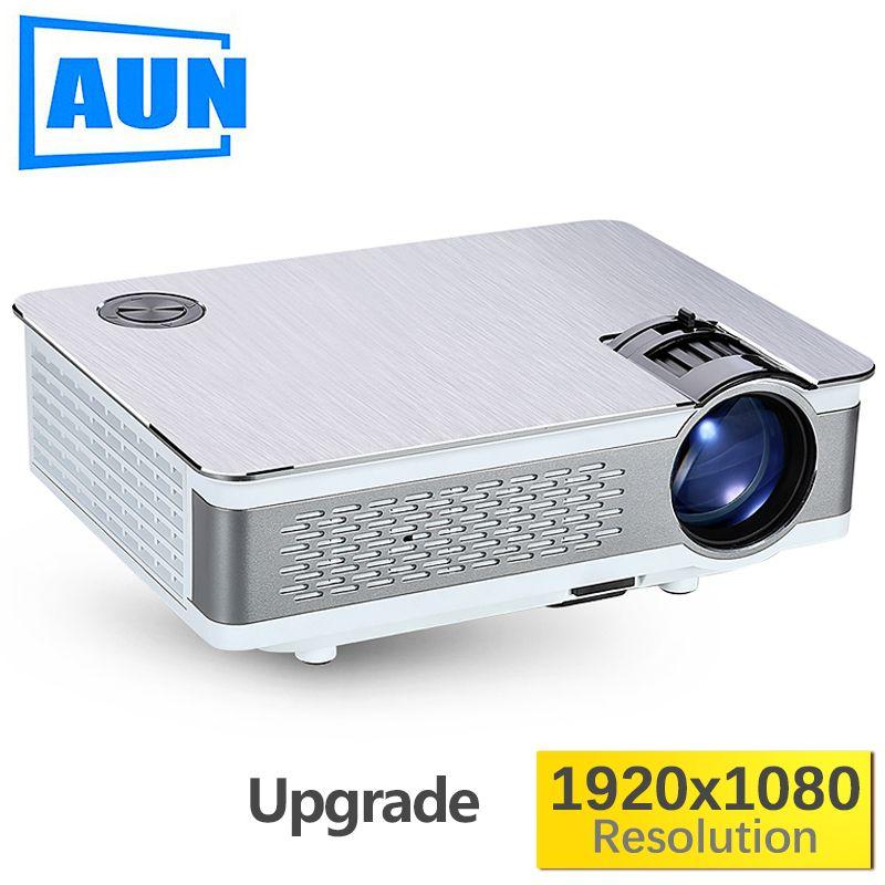 AUN Full HD Projektor. AKEY5. 1920x1080 P, Verbesserte 3800-6000Lumen (Peak) (Optional Android 6.0 LED Projektor Unterstützung 4 K, WIFI)