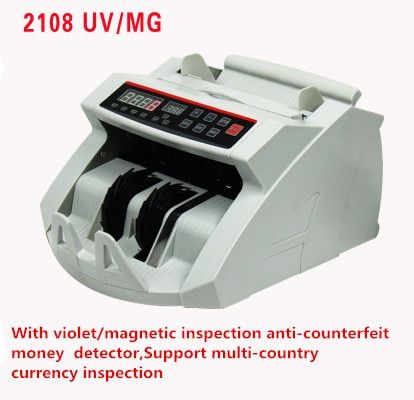 Bill Counter, Money Counter ,Suitable for EURO US AUD etc. Cash Counting Machine Multi-Currency Compatible UV/MG 1pcs