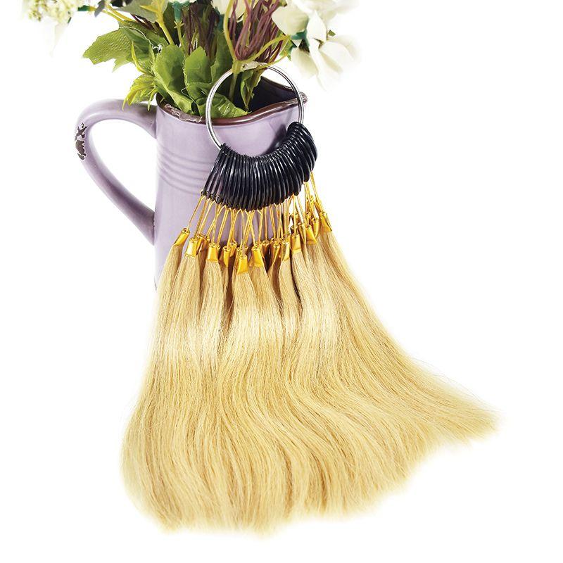 30 pièces/ensemble 100% asiatique cheveux humains couleur anneau nuancier anneaux pour Remy Extensions de cheveux Salon couleur Design pratique anneaux