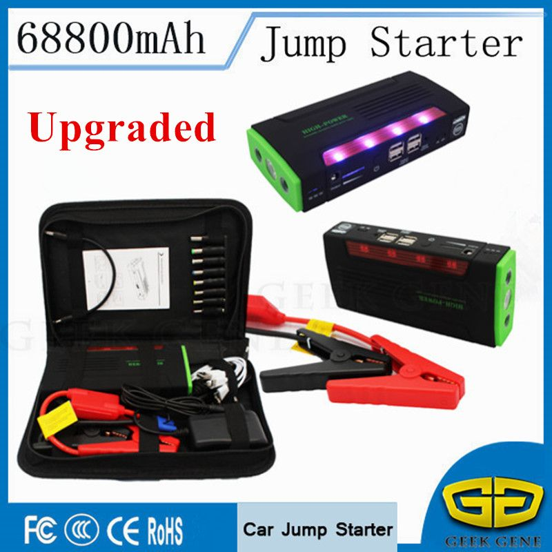 Portable Starting Device 68800mAh Car Jump Starter 4USB Power Bank 600A Pack Car Battery Charger For Petrol Diesel Car Starter