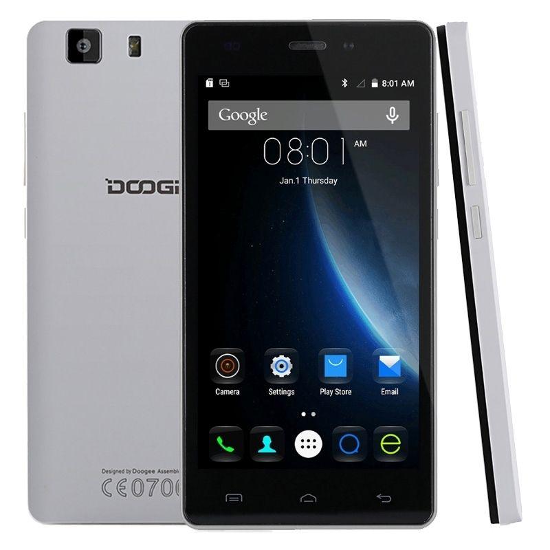 DOOGEE X5 3G WCDMA Unlocked Phone Android 5.1 MT6580 Quad Core 1.3GHz 8GB ROM 1GB RAM 2400mAh Battery 8.0MP+5MP 5.0 inch GPS