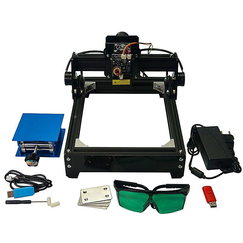 Montiert DIY 15 W laser metall stecher kennzeichnung maschine 10000 MW 15000 MW 20x14 cm metall carving mini cnc router