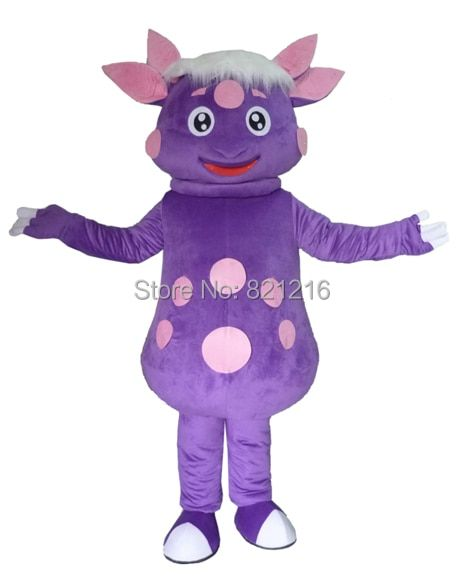 Hot Sale Purple Luntik Character Mascot Costume For Adult Fancy Dress Charactor Party