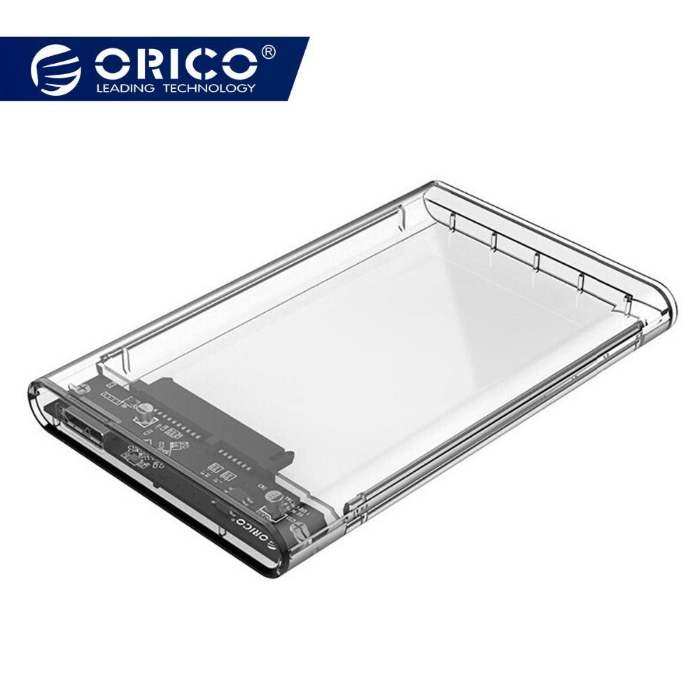 ORICO  2139U3 2.5 inch Transparent USB3.0 to Sata 3.0 HDD Case Tool Free 5 Gbps Support 2TB UASP Protocol Hard Drive Enclosure