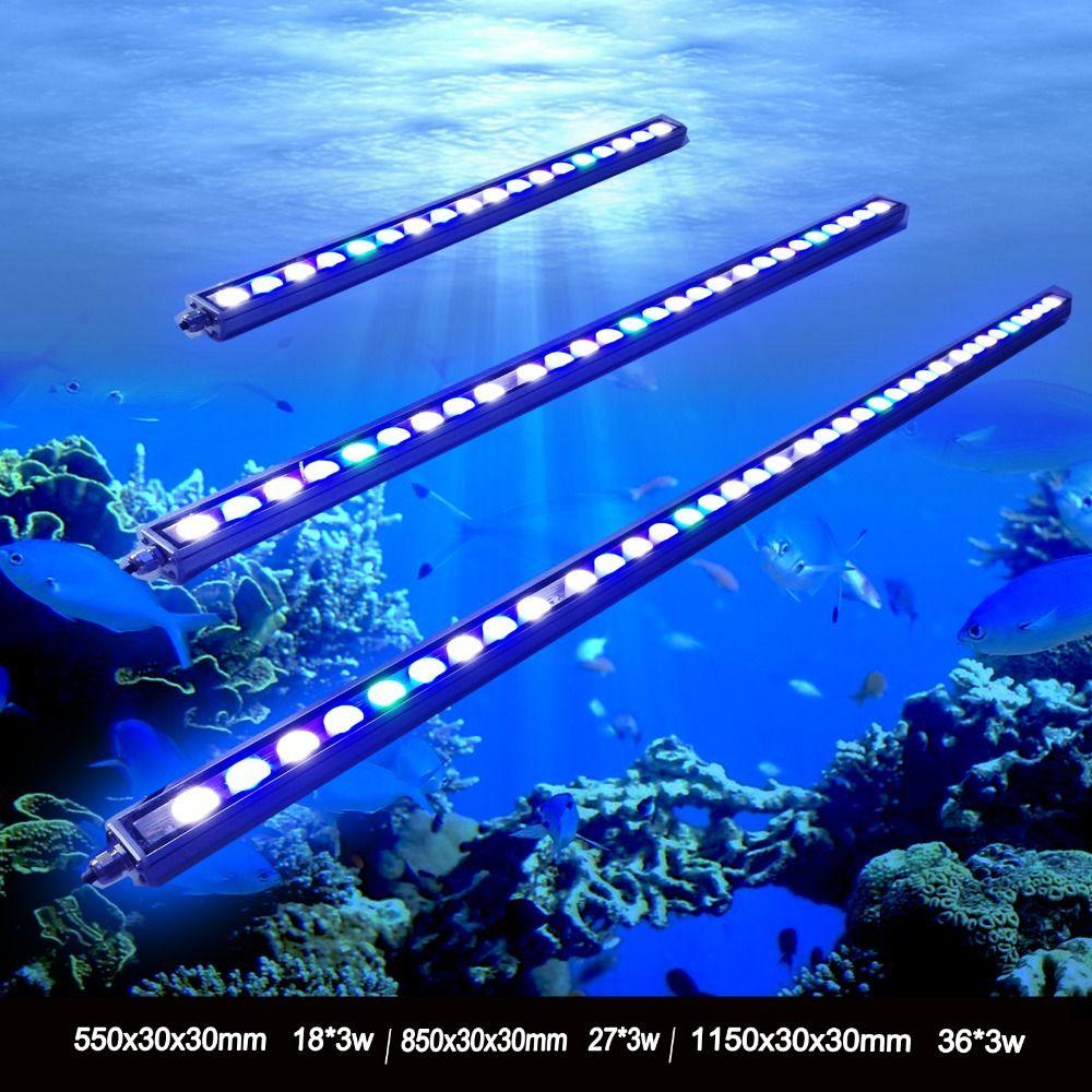 1 stücke 54 Watt/81 Watt/108 Watt Wasserdichte IP65 Wasserdichte LED aquarium bar licht für riffkoralle wachstum aquarium lampe beleuchtung lager in DE/UNS