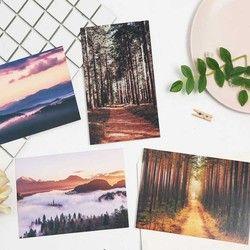 30 Pcs/ensemble Creative 143mm * 93mm Vent en Montagne Papier Carte Postale Carte De Voeux Message Carte Nouvel An Cadeaux