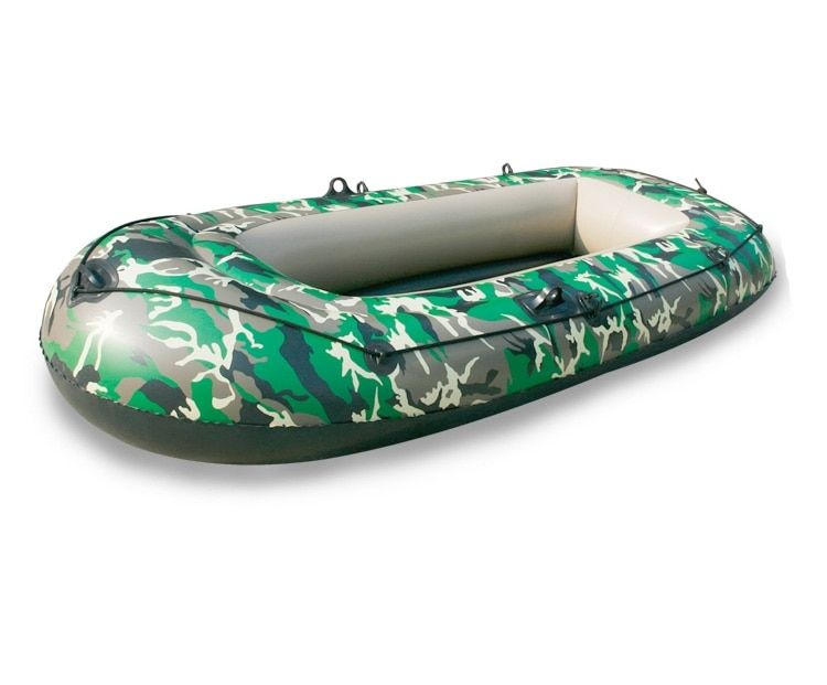 2 persons Inflatable Boat Thicken 0.35mm PVC Camouflage Inflatable Boat Drifting craft Kayak Fishing Boat Canoeing pool float