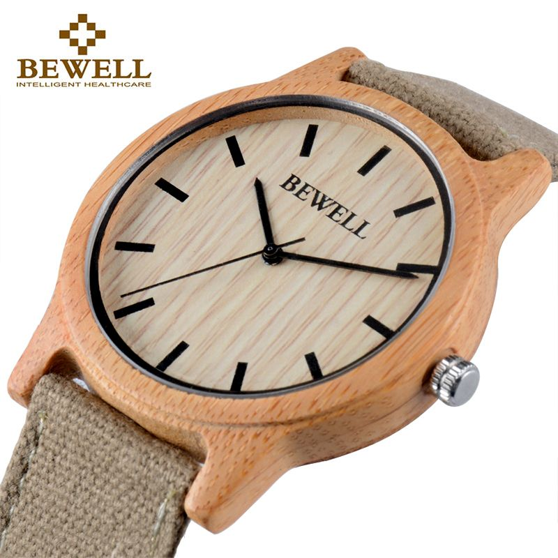 BEWELL Bamboo Wood Watch Luxury Brand Analog Digital Quartz Watch Men Women Watch Dropshipping Ladies Watch Unique Clock 134A