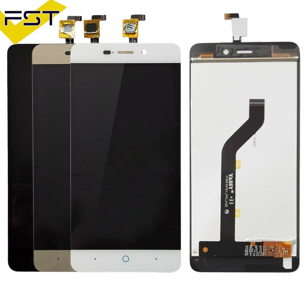 Top Quality Black/White/Gold LCD+TP For ZTE Blade X3 D2 T620 A452 LCD Display with Touch Screen Digitizer Assembly+ tools