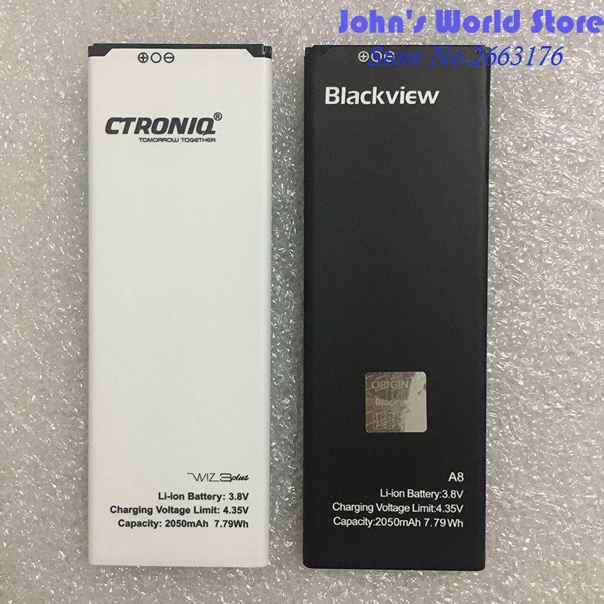 100% Original Nouveau Blackview A8 Batterie de Remplacement 2050 mAh Li-ion Batterie De Secours Pour Blackview A8 Téléphone Intelligent