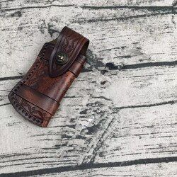 Folding Messer Halter Outdoor-Tool Gürtel Schleife Jagd EDC Multi Holster Tragen Mantel Leder Scheide Tasche Tasche Tasche