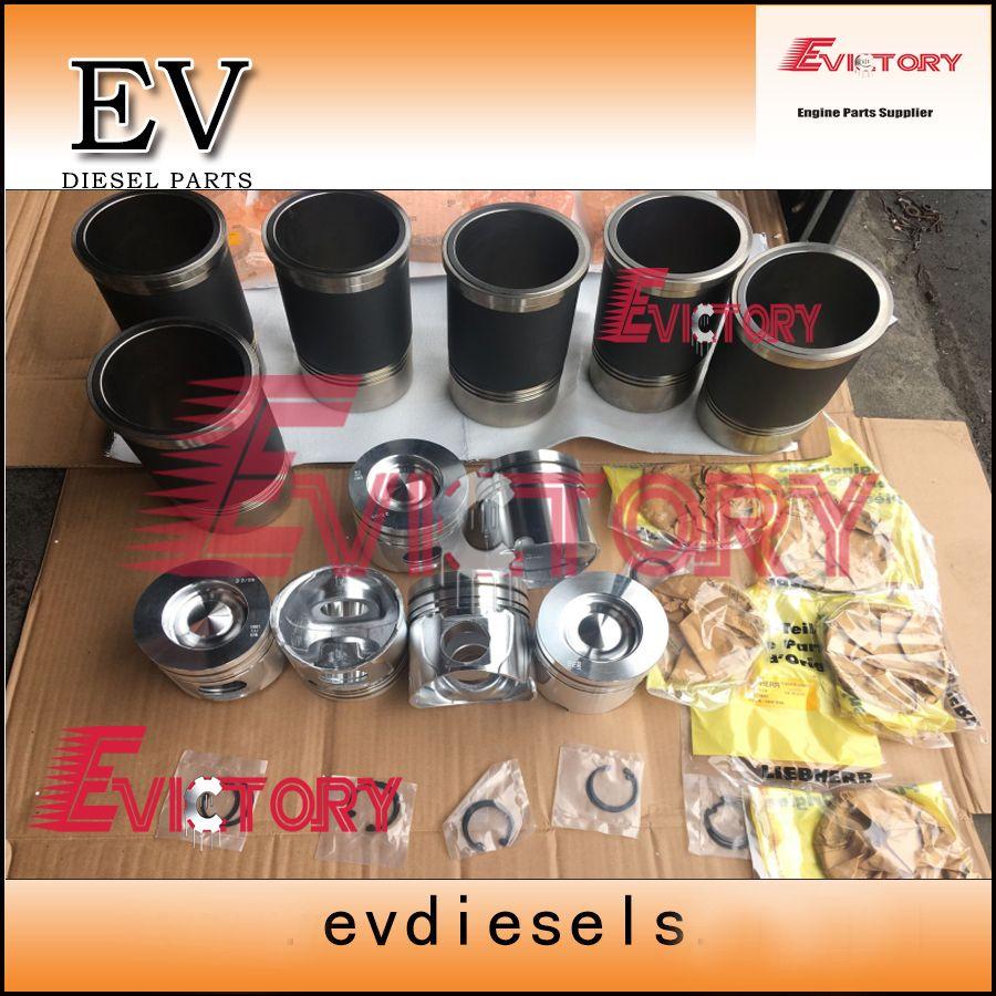 LIEBHERR motor D926TI D926-TI D926 D926T rebuild kit kolben ring zylinder liner dichtung lager