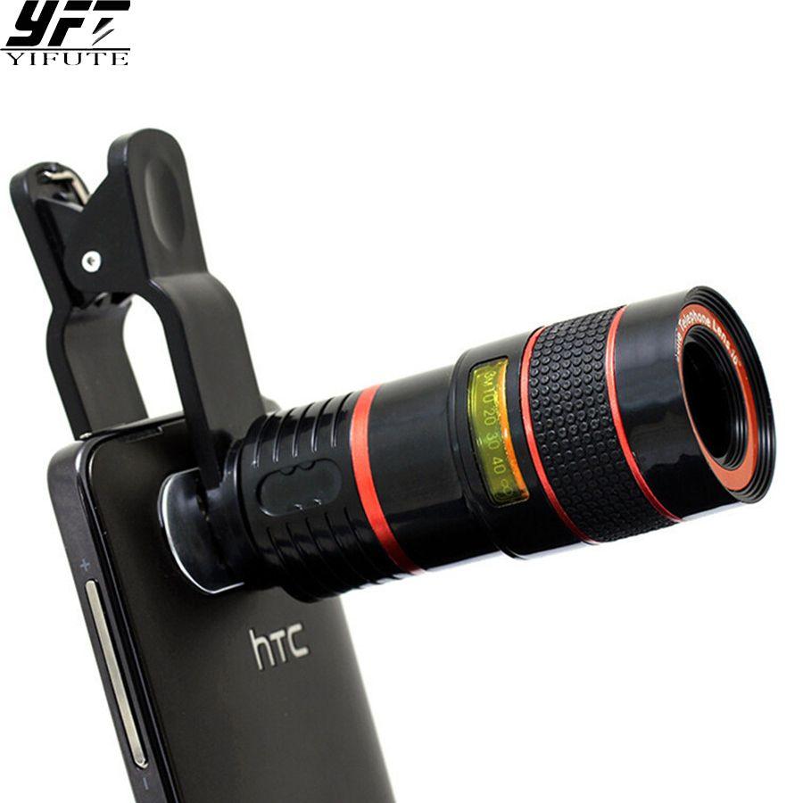 YIFUTE Lentilles Clip Universel 8X Zoom Téléobjectif HD Mobile téléphone Lentilles de Caméra Pour Apple iPhone 5 Samsung Xiaomi Redmi Huawei