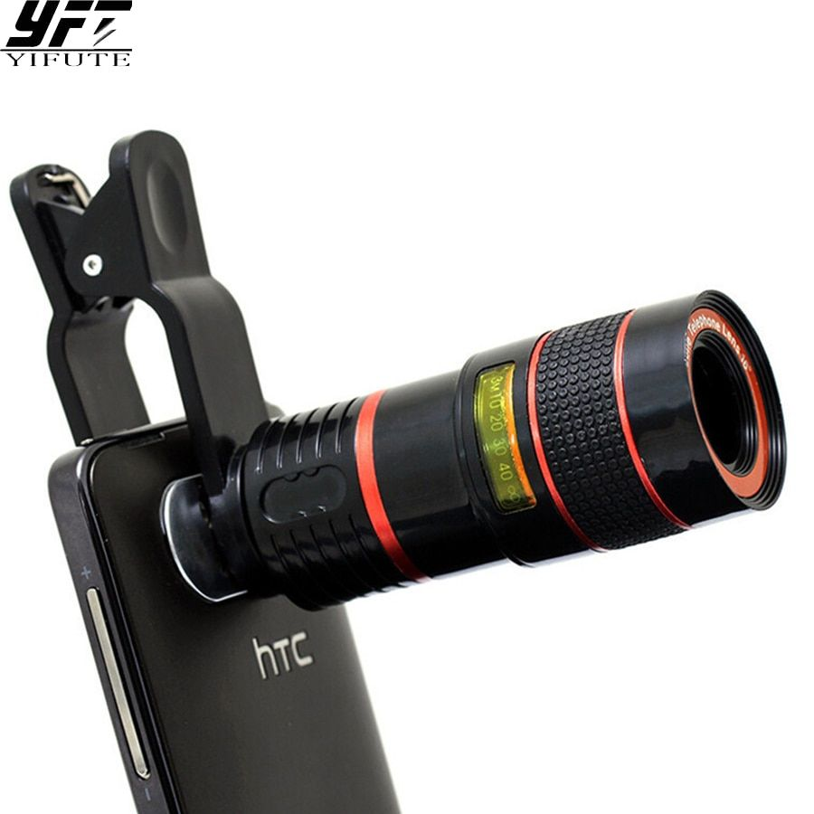 YIFUTE Lentilles Clip Universel 8X Zoom Téléobjectif HD Téléphone Portable Caméra Lentilles Pour Apple iPhone 5 Samsung Xiaomi Redmi huawei
