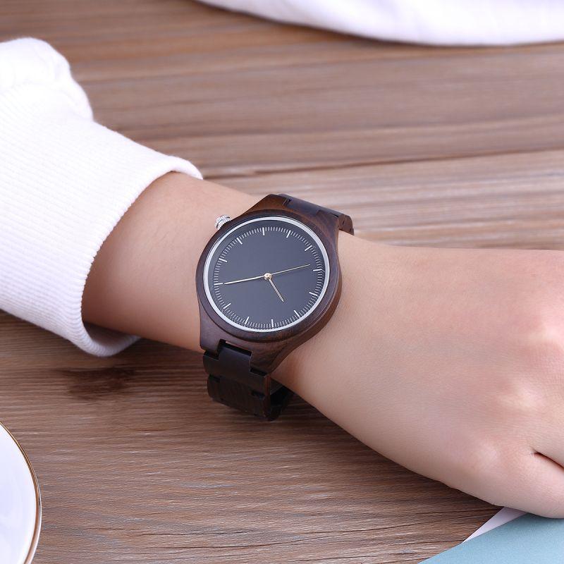 SIHAIXIN Watches Woman Top Brand Luxury Wood Sandalwood Clock Fashion Lady Personalized Liberty Black Women Bamboo Watch Gift