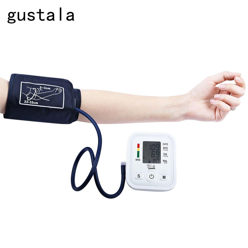Gustala Automatic Arm Blood Pressure Pulse Monitor Health Care Digital Upper Portable Sphygmomanometer Family Health Care Tool