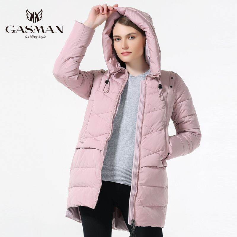 GASMAN 2018 Women Winter Hooded Thickening Coat Fashion Slim Down Jacket Female Windproof Overcoat Casual Hooded Bio Down Parka