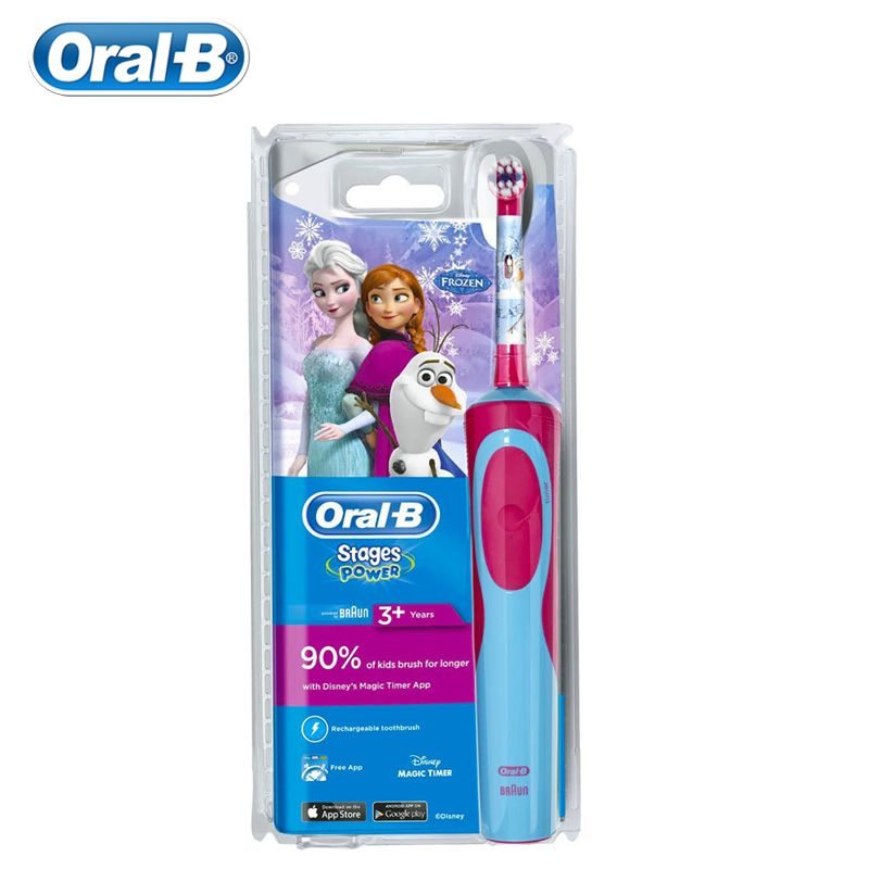 Oral B Children Electric Toothbrush for Kids Deep Clean Gum Care Waterproof Stain Removing Inductive Charging