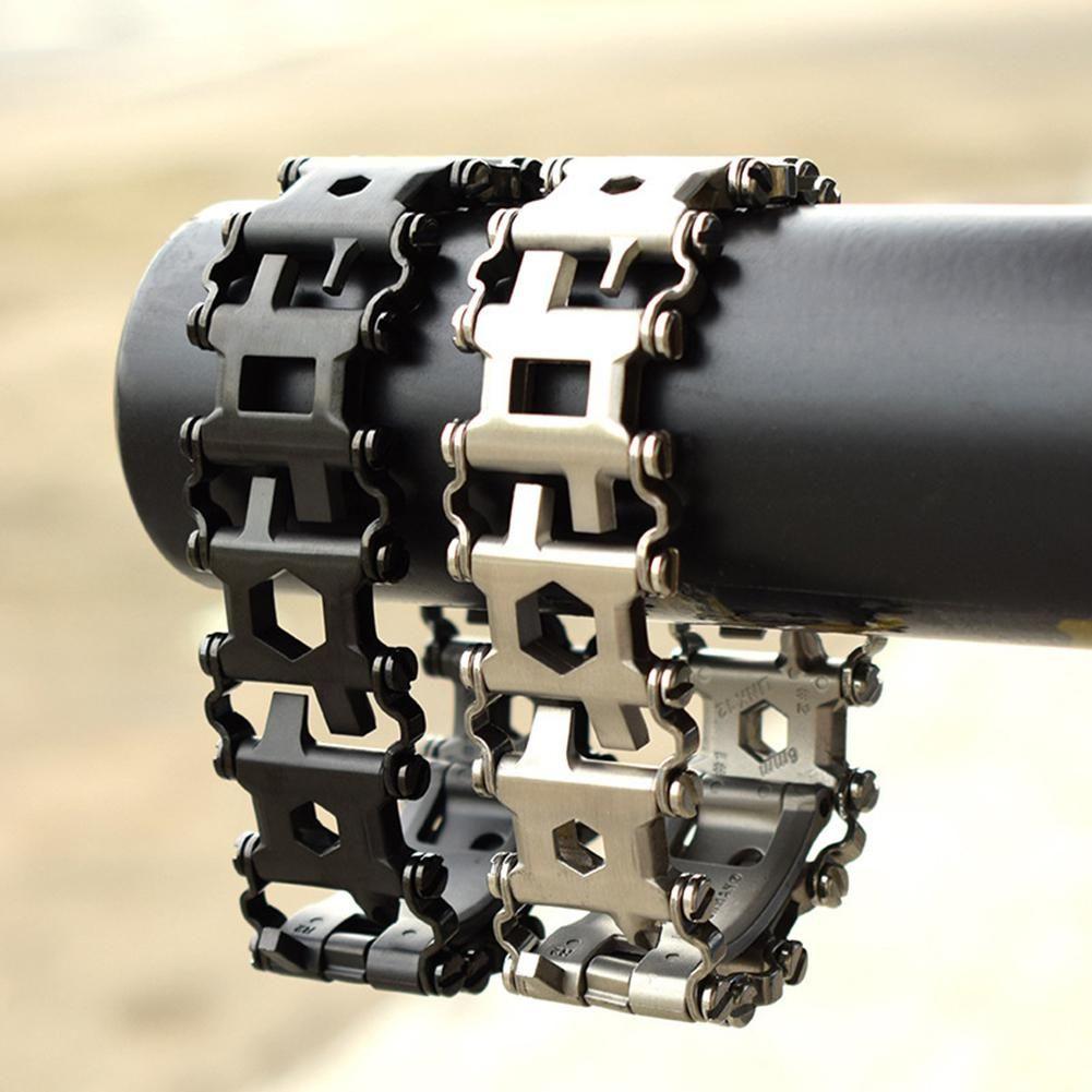 XIUFEN Man Outdoor Spliced Bracelet Multifunctional Wearing Screwdriver Tool Hand Chain Field Survival Bracelet for outside