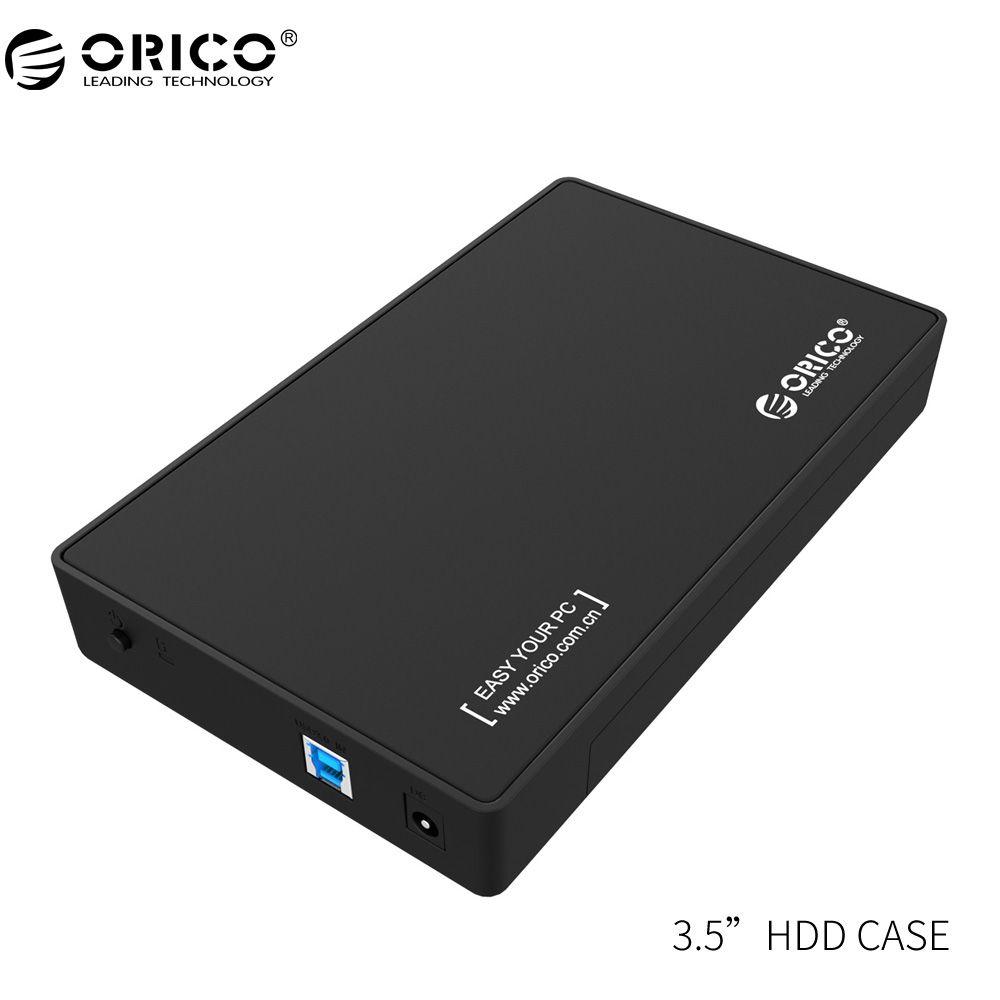 ORICO 3,5 HDD Gehäuse 3,5-zoll SATA Externe Festplattengehäuse, USB 3.0 Werkzeug Frei für 3,5
