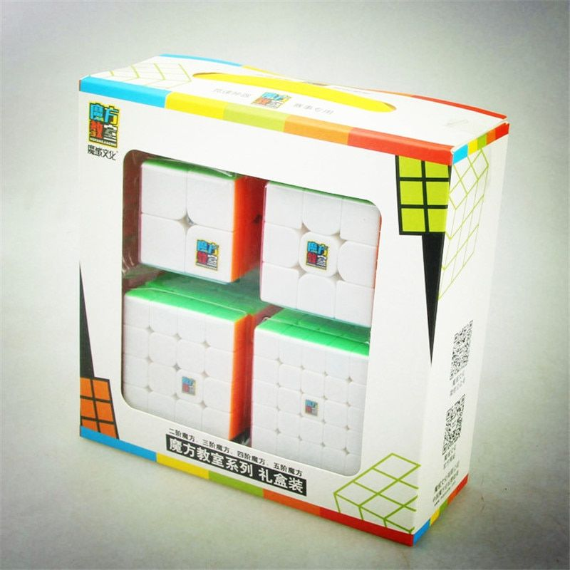 Moyu <font><b>Cube</b></font> Bundle 2x2 3x3 4x4 5x5 Speed <font><b>Cube</b></font> Set Mofang Jiaoshi Magic <font><b>Cube</b></font> MF2S MF3S MF4S MF5S Pack Puzzle Toy Gift Box
