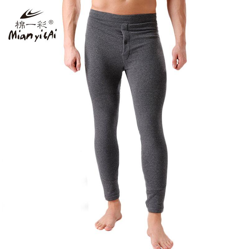 2016 Winter Plus Cashm Men Thermal Tight Underwear Men's Cotton Pants Long Johns Plus Size Polyester Super Soft Underwear