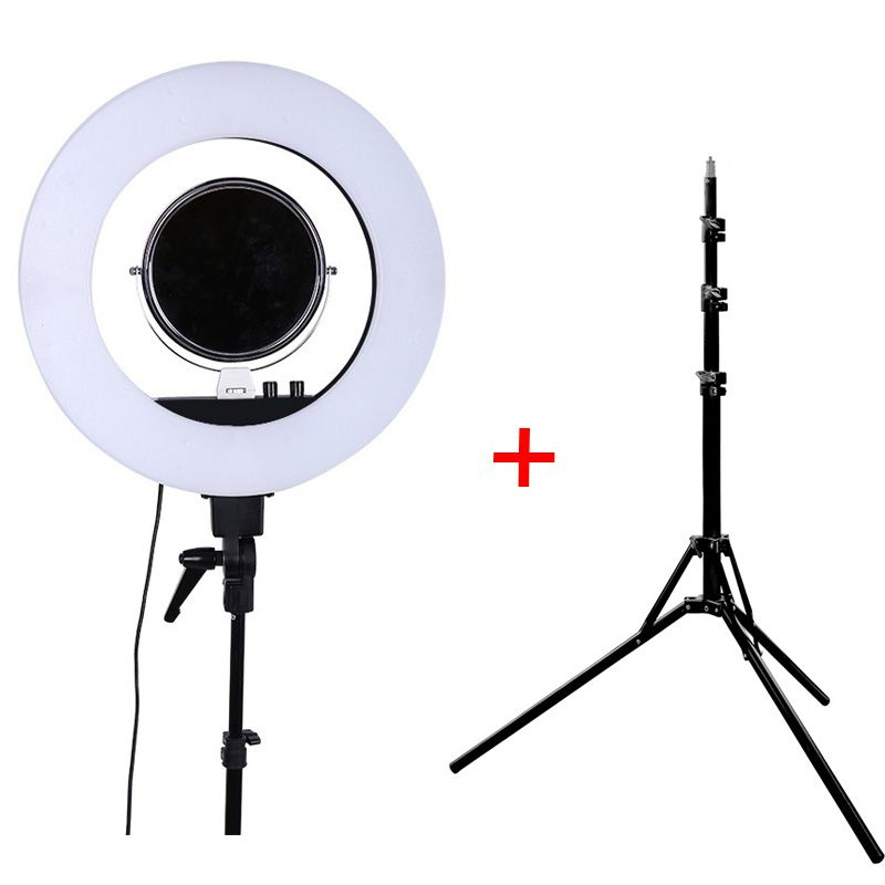 Fusitu CY-R50L 5500K <font><b>Dimmable</b></font> LED Adjustable Ring Light 480 led Camera Macro Ring Light for Makeup Photography/Video with Tripod