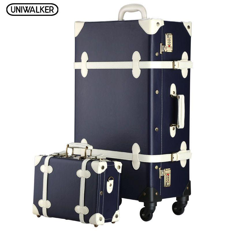 2PCS/SET Vintage PU Travel Luggage,12