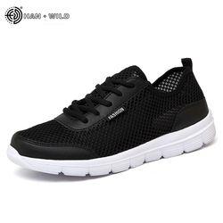 2018 hombres verano zapatillas transpirable zapatos casuales par amante moda Lace up Mens pisos zapato grande más tamaño