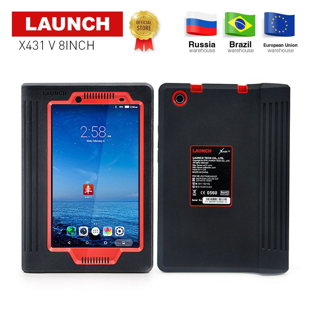 LAUNCH X431 V 8 inch global version full ECU system diagnostic scanner x-431 V Bluetooth/Wifi Scan tool used in 200+ countries