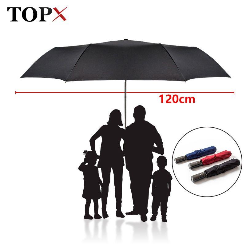 Alta Calidad de la Marca Gran Paraguas Plegable Lluvia Hombres Mujer de Golf Doble Regalo de Empresa Paraguas Automático Paraguas A Prueba de Viento