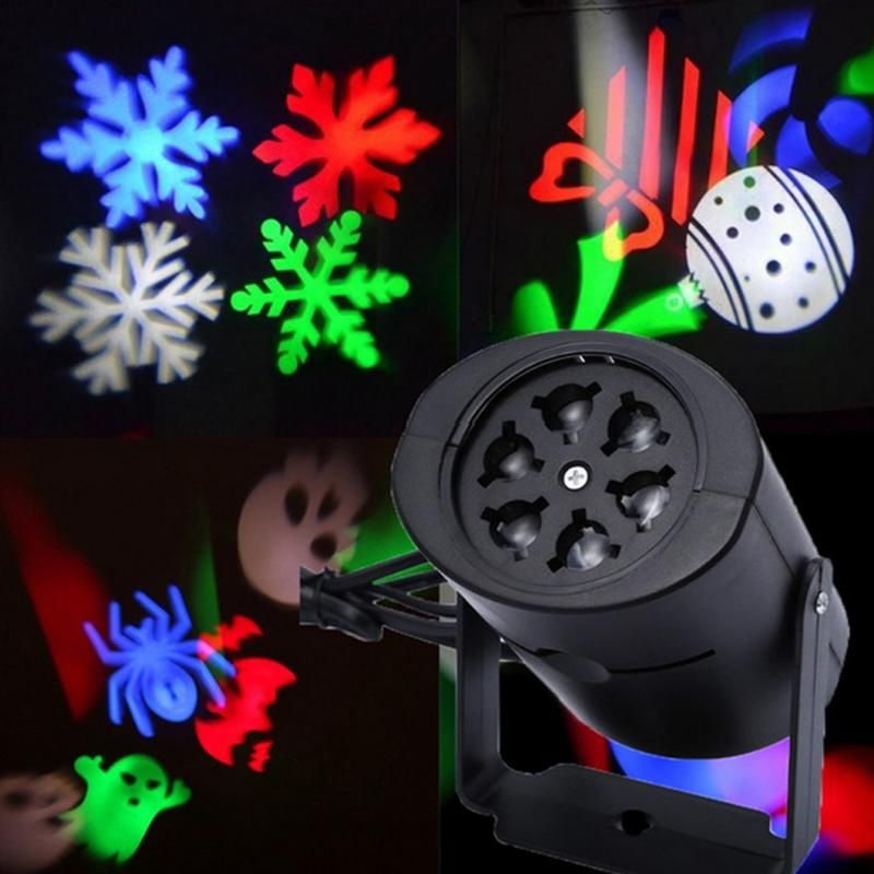 Christmas Laser Snowflake Projector Outdoor LED Waterproof DJ Disco Stage Lights Home Garden Star Light Indoor Outdoor Decor