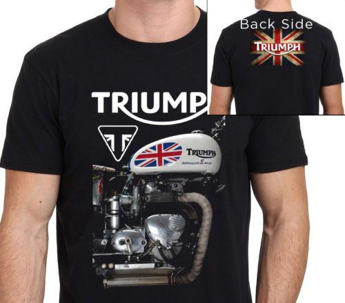 TRIUMPH moto T Shirt hommes deux côtés Triumph vintage imprimé manches courtes t shirt US grande taille S-3XL