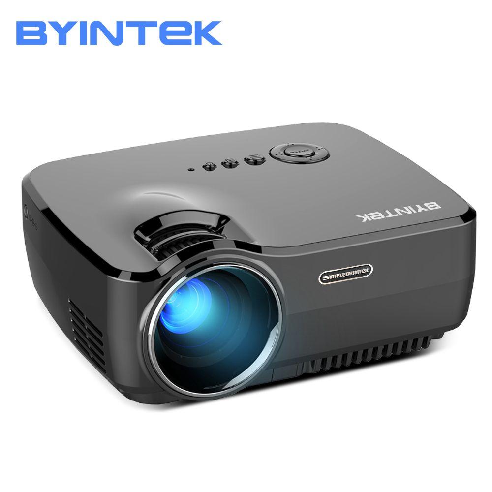 BYINTEK Marque CIEL GP70 Portable Mini led Cinéma Vidéo Numérique HD projecteur de cinéma maison Beamer Proyector avec usb HDMI