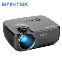 BYINTEK marca cielo GP70 portátil Mini LED cine Video Digital HD Proyector Beamer Proyector con USB HDMI