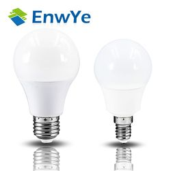 Enwye LED E14 Lampu LED E27 LED Bulb AC 220 V 230 V 240 V 20 W 18 W 15 W 12 W 9 W 6 W 3 W Lampada LED Lampu Meja Lampu Lampu