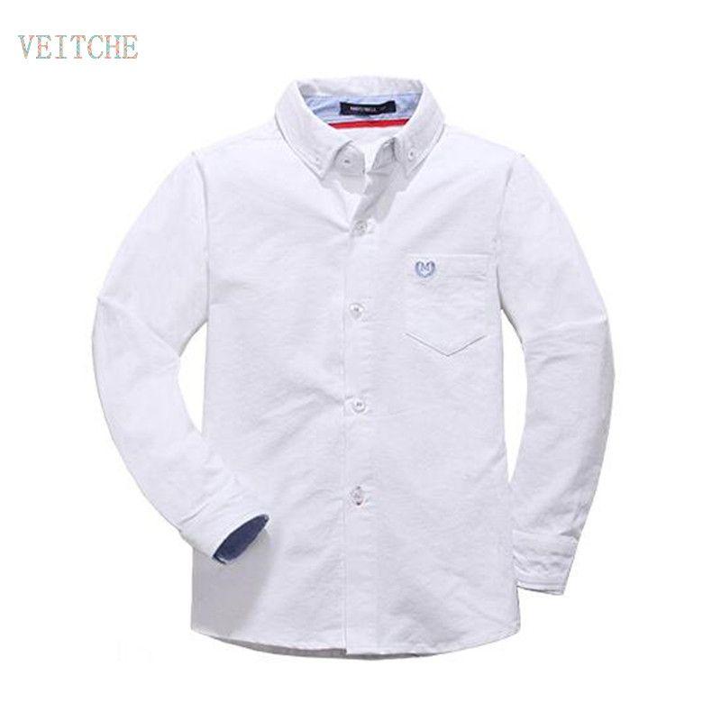 2017 herbst Frühling Oxford baumwolle solide baby kinder Bluse junge shirts mit langen ärmeln für kinder jungen weihnachtsgeschenk 120-170 cm