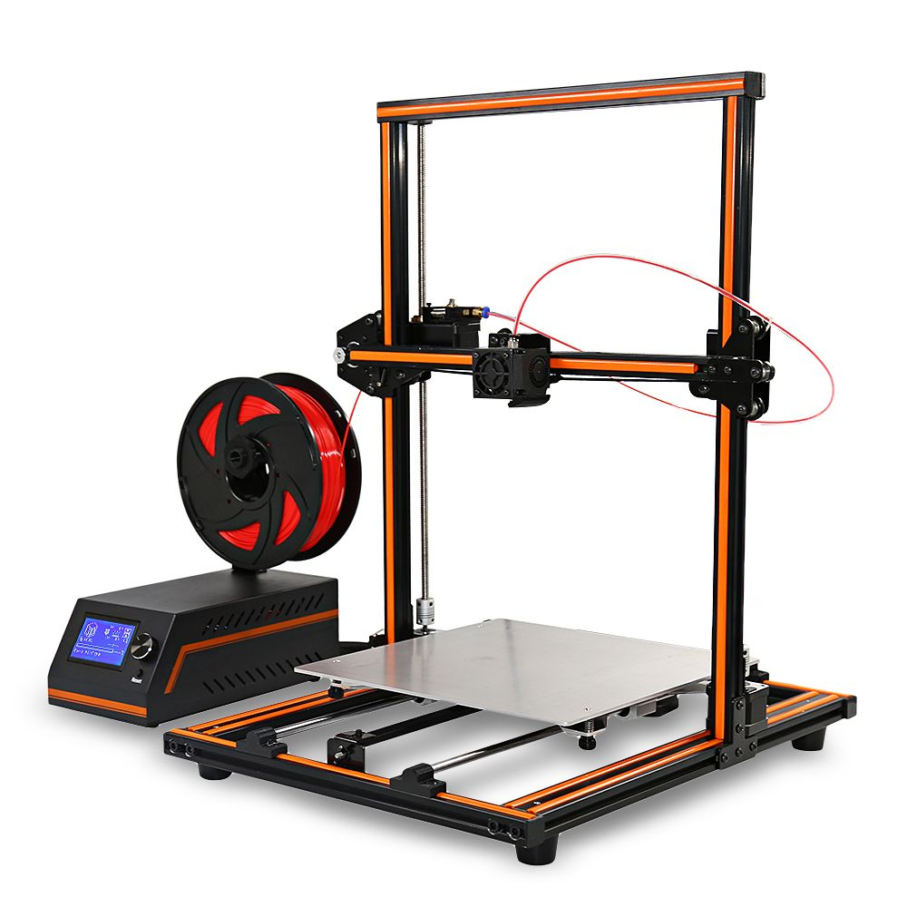 Original Anet E12 3D Printer DIY 300*300*400mm 0.4mm Nozzle Aluminium Alloy Frame 3D Desktop Printer Easy Assembly Large Size