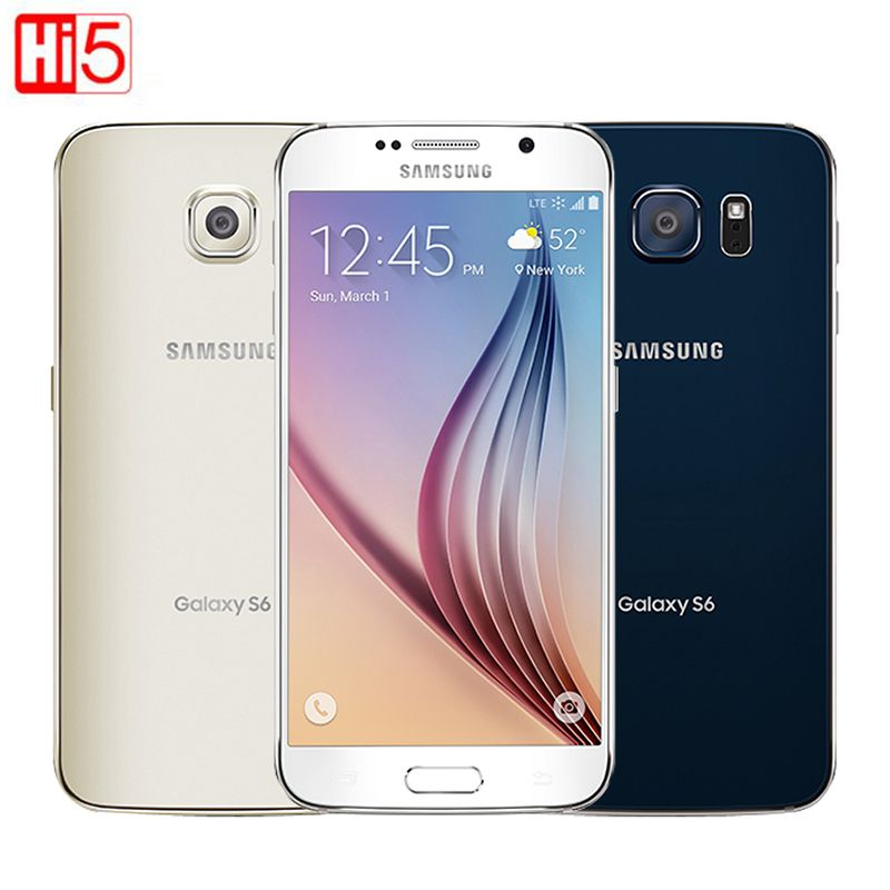 Unlocked Samsung Galaxy S6 G920F/G920V single sim card Octa Core 3G RAM 32GB ROM WCDMA LTE 16MP Camera 5.1 inch Bluetooth