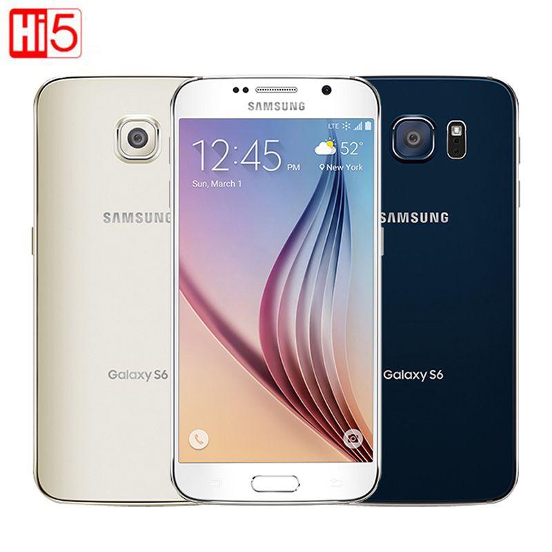 Unlocked <font><b>Samsung</b></font> Galaxy S6 G920F/G920V single sim card Octa Core 3G RAM 32GB ROM WCDMA LTE 16MP Camera 5.1 inch Bluetooth