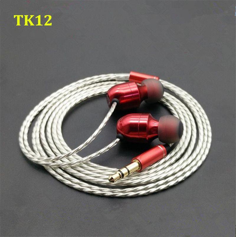 2016 New MusicMaker TK12 Dynamically And 2 BA 3 Unit Earbuds HIFI Fever Music Marker In Ear Earphone DIY Custom Hybrid Headset