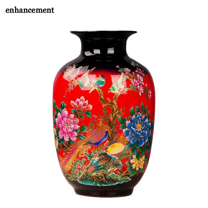 Jingdezhen Vase à fleurs en porcelaine porte-fleurs en céramique 13 modèles choisir maison bureau décoration de noël