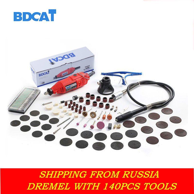 BDCAT 180 w graveur Électrique Dremel Outil Rotatif À Vitesse Variable Mini Forage Broyage outils avec 140 pcs accessoires pour Outils Électriques