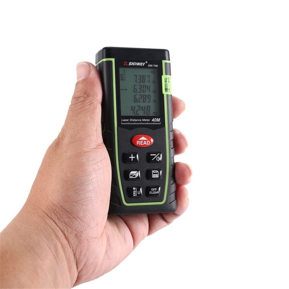 SNDWAY SW-T40 SW-T60 SW-T80 SW-T100 Laser Distance Meter Range Finder Trena Rangefinder Tape Measure Tool
