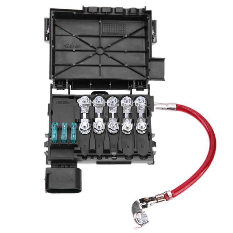 1 Stücke Auto Sicherungskasten Batterieklemme Zubehör für Volkswagen Bora Golf Mk4 98-05 Car Styling Auto Auto Zubehör Batterie Sicherungskasten