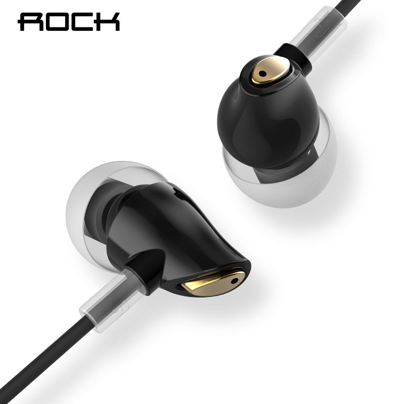 Rock In-Ear Zircon Stereo Earphone 3.5mm AUX Headset With Mic Balanced Immersive Bass Earphones for iPhone Sumsung Xiaomi