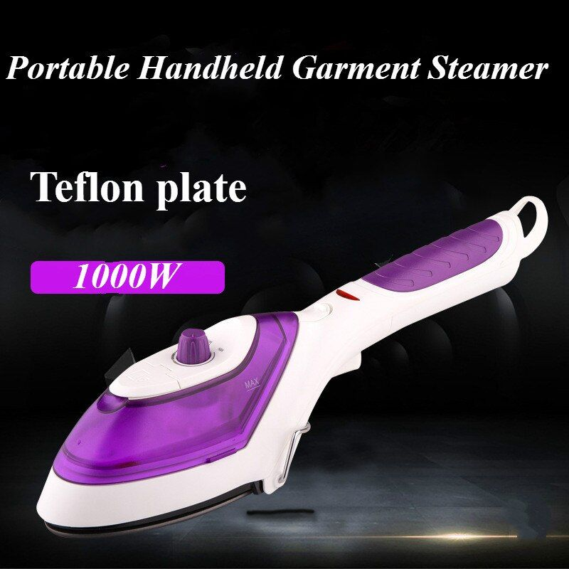 Portable Handheld Garment Steamer For Home <font><b>Travelling</b></font> Electric Clothes Steam Brush Cleaning Steam Iron 220V Teflon plate