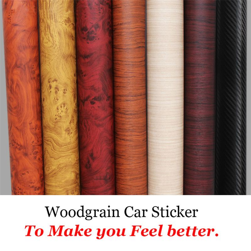 Voiture style 30*200 CM PVC meubles bois Grain voiture Wrap voiture Film interne autocollants imperméable auto-adhésif voiture autocollant