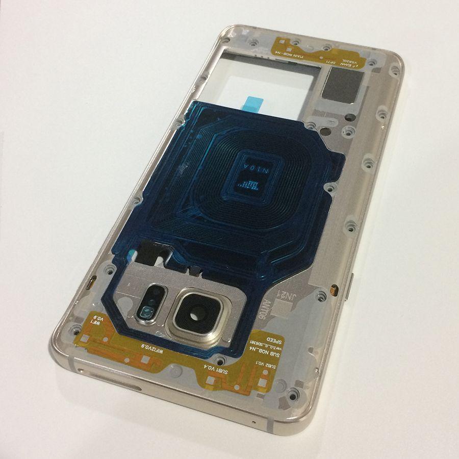 Für Samsung Galaxy Note5 Hinweis 5 N920 Neue Mittelrahmen Mid Bezel Metallrahmen Gehäuse Chassis Mit Teile Ersatz