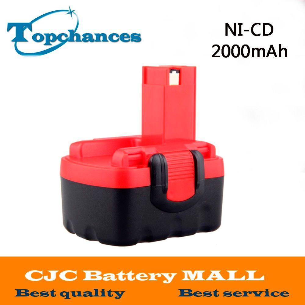 Batterie Rechargeable sans fil 14.4 V 2000 mAh ni-cd pour Bosch 26156801 3610-K10 3610 K 3612 3615 K PSR 14.4 VES-2